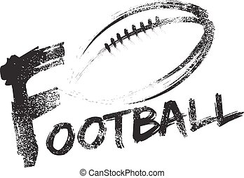 Football Grunge Streaks - Football made with a grungy brush...