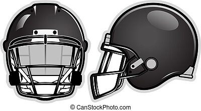 Football helmet - American football helmet isolated on white