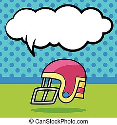 football helmet doodle