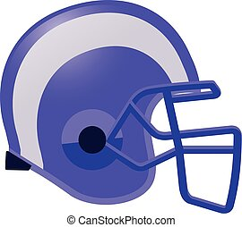 football helmet in violet color