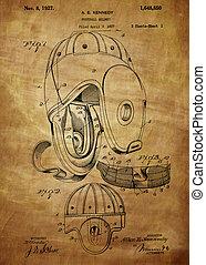 Football Helmet Patent From 1927 - Football Helmet Patent...