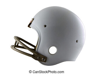 Football Helmet - Photo of a football helmet isolated on...
