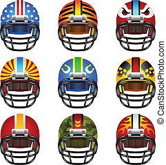 Football helmet set