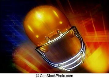 football, helmet, sport