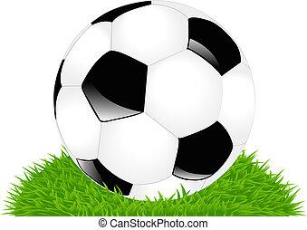 football, herbe, balle, classique