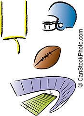 football, icônes