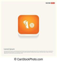 Football Icon Orange Abstract Web Button