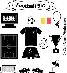 Football icons set