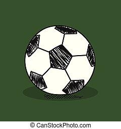 Football illustration on color background