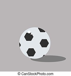 Football, illustration, vector on white background.