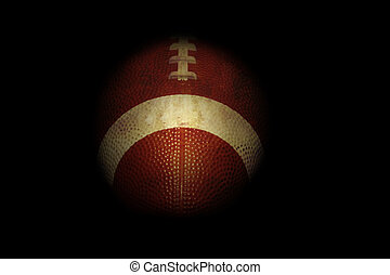 Football in black background - Football isolated on black...