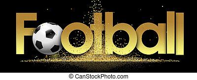 Football in golden stars background