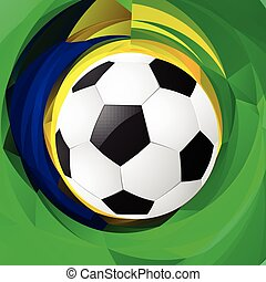 football in green background