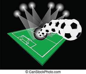Football in the night