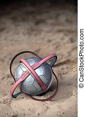 football in the sand