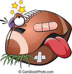 Vector illustration of an injured football.