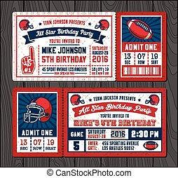 Football invite tickets 2