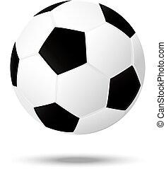football, isolé, fond, football, illusion, mieux