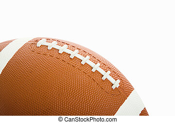 Football Isolated - Football isolated on white with room for...