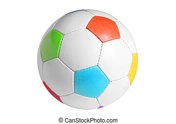 Football isolated on the white background