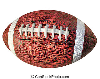 Football isolated on white with clipping path.