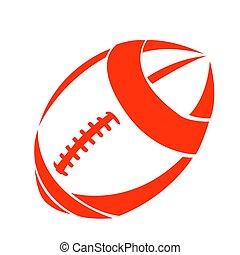 football, isolato, palla