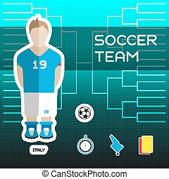 football, Italie, équipe