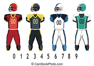 Football jersey - A vector illustration of American football...