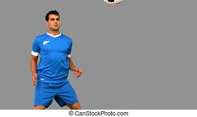 football, jonglerie, homme, séduisant