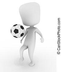 football, jouer, homme