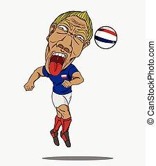 football, joueur, francais
