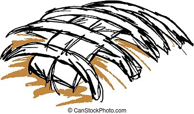Football Laces Hand drawn in Ink and Vectorized.