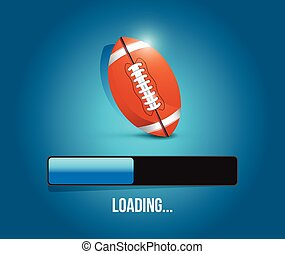 football loading bar illustration design