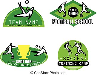 football logo set