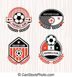 Football logo - Vector set sport emblems. Logo badges and...