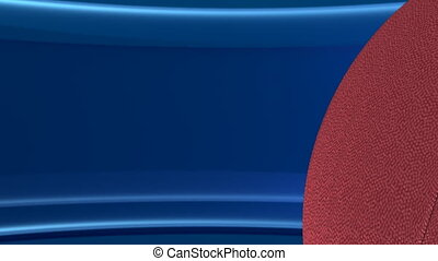 Football Looping Blue Text Template