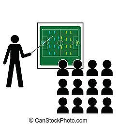 Football Manager giving pre match tactics team talk