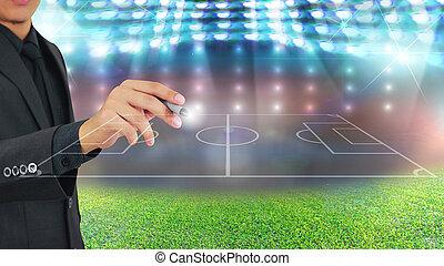 Football manager plan tactics