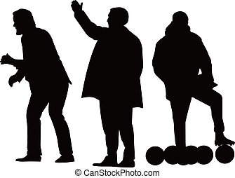 Football manager silhouette