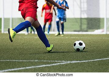 Football match for children