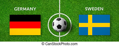Football match Germany vs. Sweden