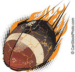 Football Meteor - A fiery football hurling through the air