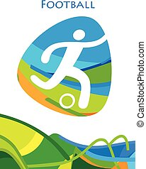 FOOTBALL Olympic Games Brazil Rio Summer abstract banner...