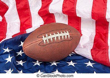 Football on American Flag - Footballl on an American flag...