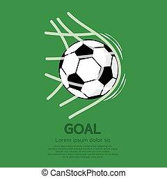 Football or Soccer Ball In Net.