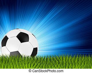 Football or soccer ball on grass. EPS 8 - Football or soccer...