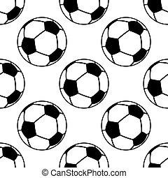 Football or soccer ball seamless pattern