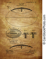 Football Patent Drawing From 1903, Vintage patent artwork...