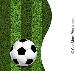 football, pelouse, balle, vert