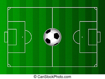 Football Pitch 2 - A football pitch and football abstract ...